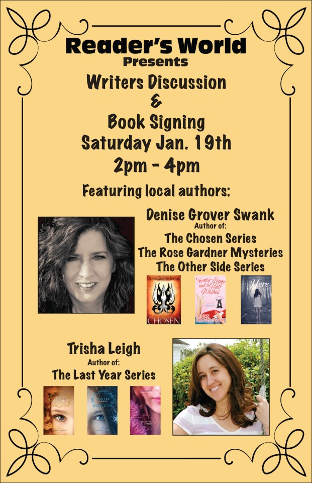 Book signing flier